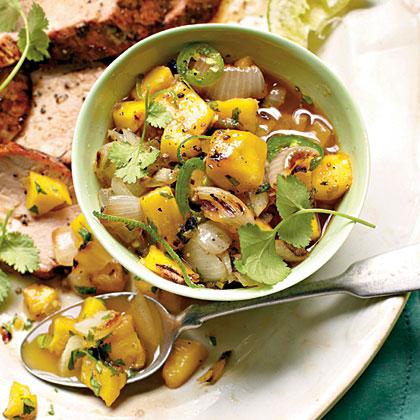 Grilled Sweet Onion-and-Mango Chutney