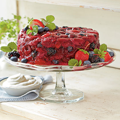 Very Berry Summer Pudding RecipeServe this juicy showstopper with sweetened whipped cream, or dollop on extra tiramisù flavor by folding together equal parts sweetened whipped cream and mascarpone cheese.
