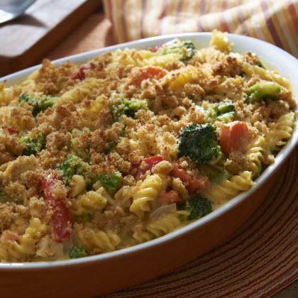 Easy Mac n Cheese Veggie Chicken Casserole