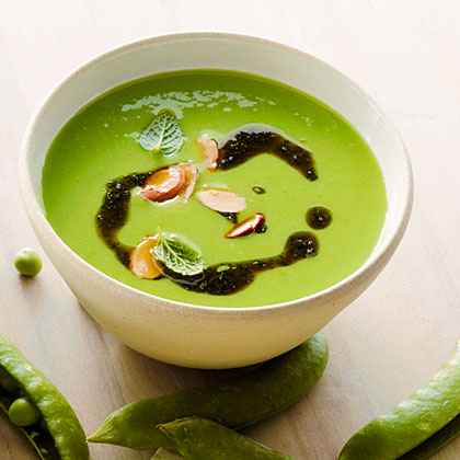 Fresh Pea Soup with Mint