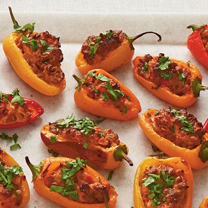 Chorizo-and Goat Cheese-Stuffed Peppers