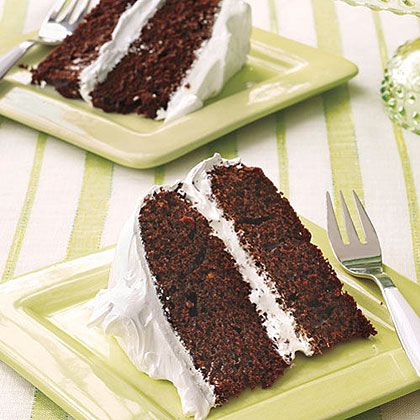 Chocolate Cake with Marshmallow Frosting Recipe