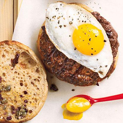 The Fried Egg-Olive Burger