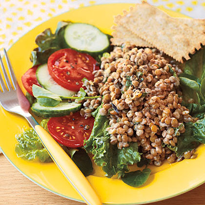 Spicy Lentil Salad with Yogurt and Cilantro