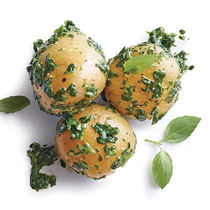 Baby Potatoes with Arugula Pesto