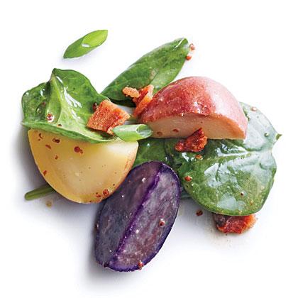 Baby Potatoes with Warm Bacon Vinaigrette Recipe