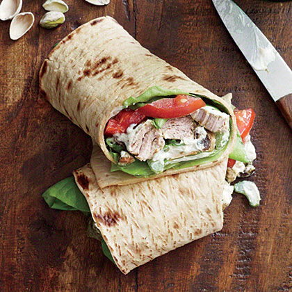 Curried Pork Salad Wrap