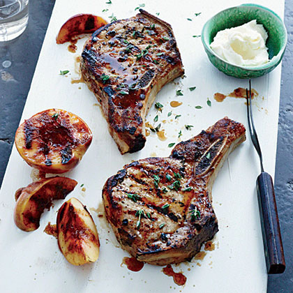 Grilled Pork Chops with Nectarines Recipe