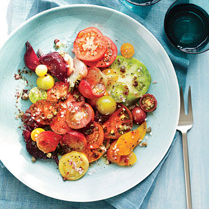 Heirloom Tomato and Beet Salad Recipe | MyRecipes