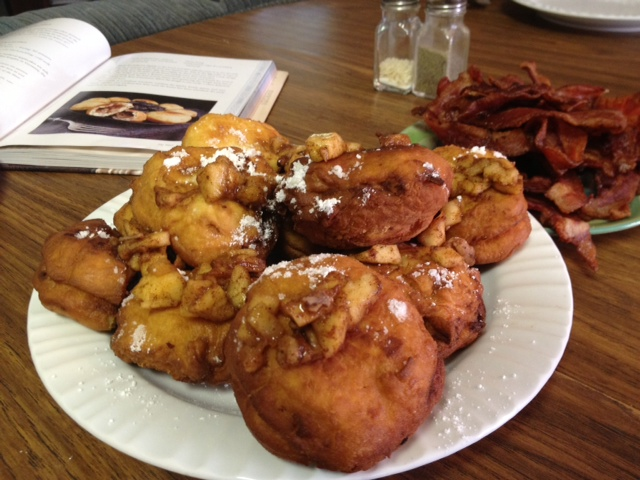Applecakes fried to golden brown