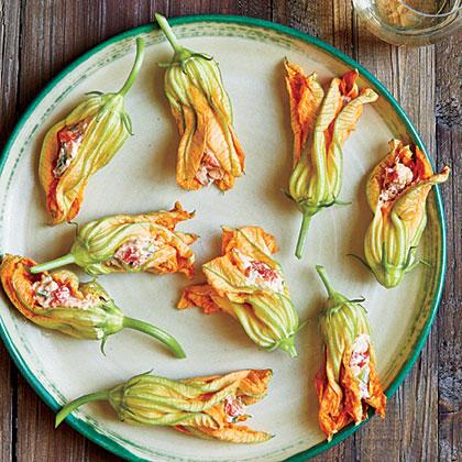Pimiento Cheese-Stuffed Squash Blossoms