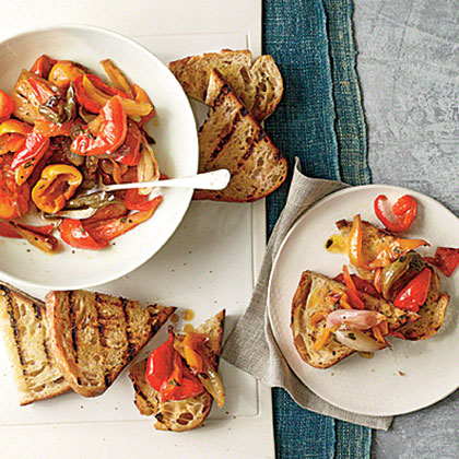 Sweet and Spicy Pepperonata