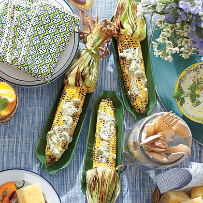 Charred Corn with Garlic-Herb Butter Recipe