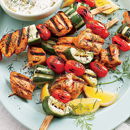 Grilled Salmon Kabobs Recipe