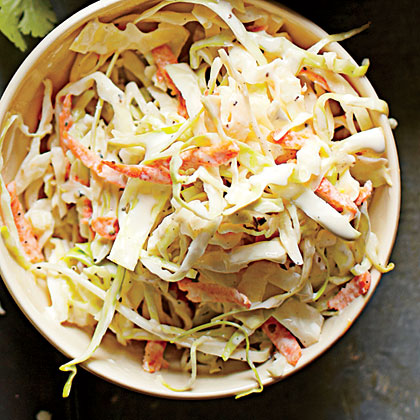 Memphis Slaw RecipeA mixture of spices is the key to Memphis Slaw that's combined with mayo and tossed with coarsely chopped cabbage, green bell pepper, and diced red onion.