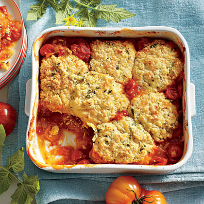 Savory Tomato Cobbler Recipe | MyRecipes.com