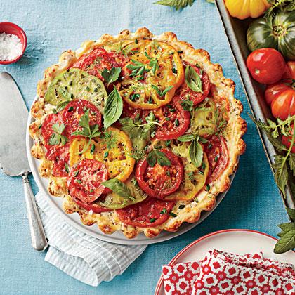 Tomato, Cheddar, and Bacon PieRecipe