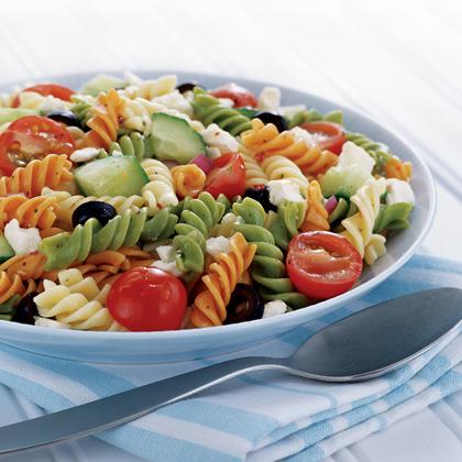 Feta and Vegetable Rotini Salad