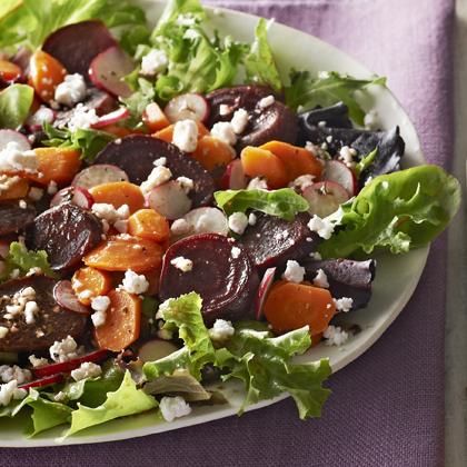 Roasted Beet & Carrot Salad