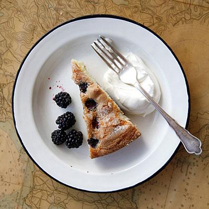Buttermilk Cake with Blackberries Recipe   MyRecipes.com
