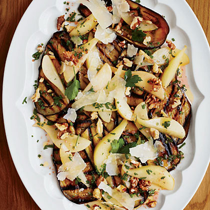 Eggplant, Pear and Pecorino Salad