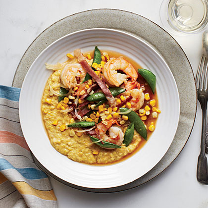 Fresh Corn Grits with Shrimp