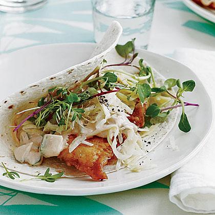 Fried-Fish Reuben Tacos
