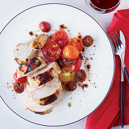 Grilled Chicken with Spiced Red-Pepper Paste