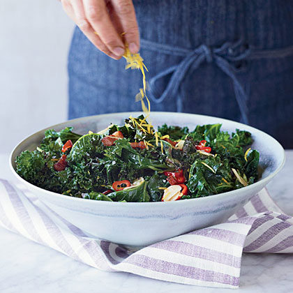 Grilled Kale with Garlic, Chiles and Bacon Recipe