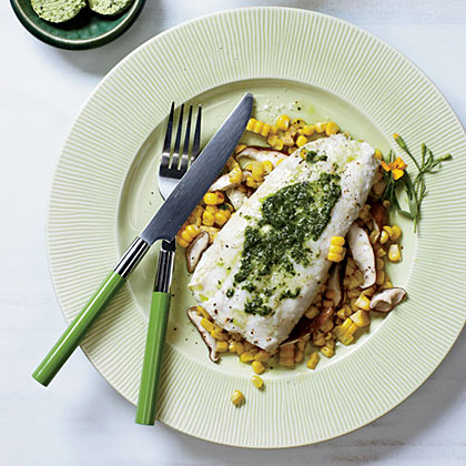 Halibut and Corn Hobo Packs with Herbed Butter Recipe