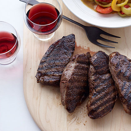 Lamb Steaks with Peppers and Cumin