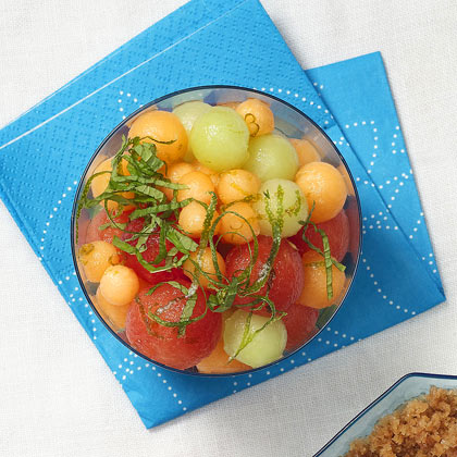 Melon Salad with Lime-Ginger Syrup
