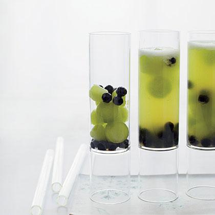 Melon Sparkler with Tapioca Pearls