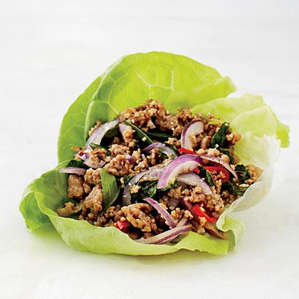Pork Larb Lettuce Wrap