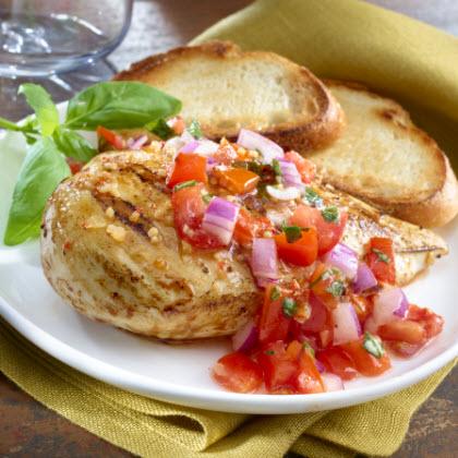 Marinated Chicken Bruschetta