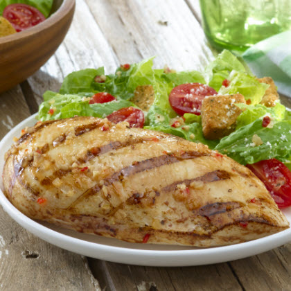 Italian Marinated Chicken with Grape Tomato Salad