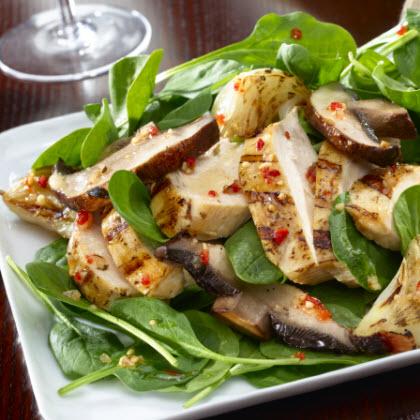 Spinach Salad with Portobello Mushrooms