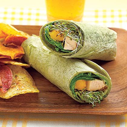 Chicken-Mango Wraps