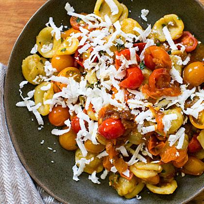 Orecchiette with Cherry Tomatoes, Marjoram, and Ricotta Salata