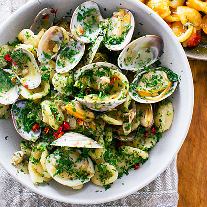 Orecchiette with Clams, Chiles, and Parsley Recipe