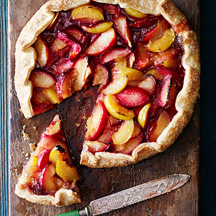 Spiced Crostata with Pluots