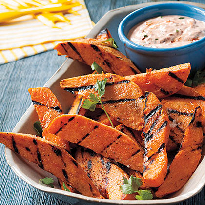 Grilled Sweet Potatoes with Chipotle DipRecipe