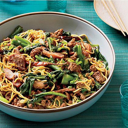 Asian Noodles with Roast Pork