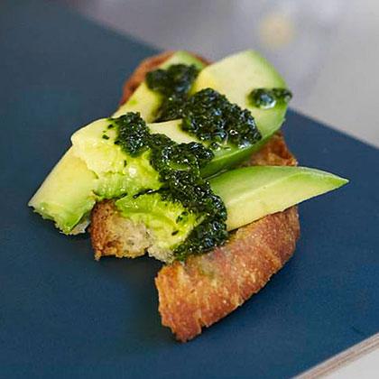 Avocado Crostini Two Ways