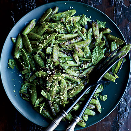 Blistered Snap Peas with Mint Recipe