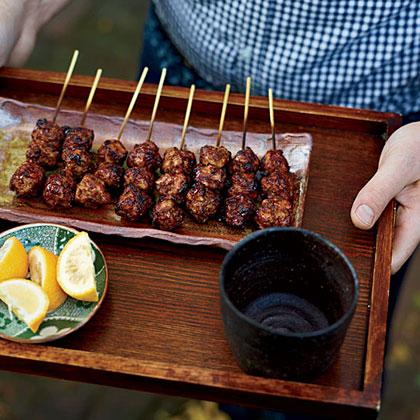 Chicken-Meatball Yakitori