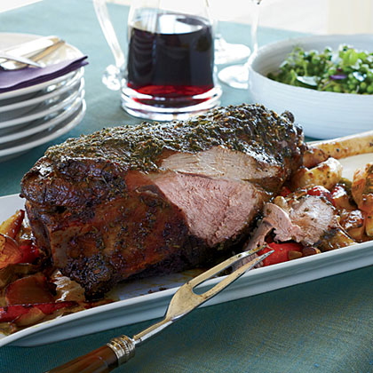 Garlic-and-Herb-Crusted Leg of Lamb Recipe