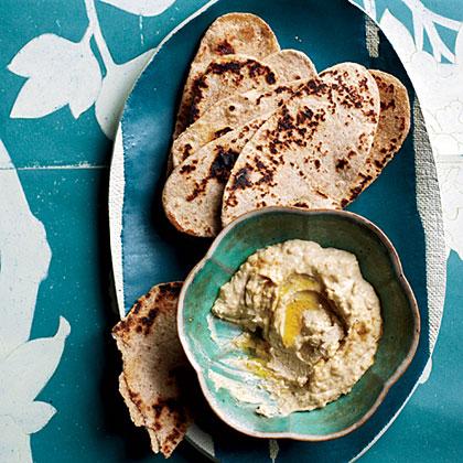 Hummus with Whole Wheat Flatbreads Recipe