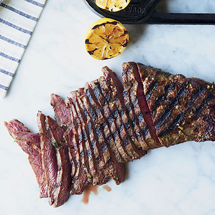Lemon-and-Garlic-Marinated Flat Iron Steak