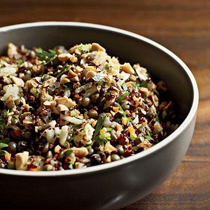 Red Quinoa and Lentil Pilaf Recipe